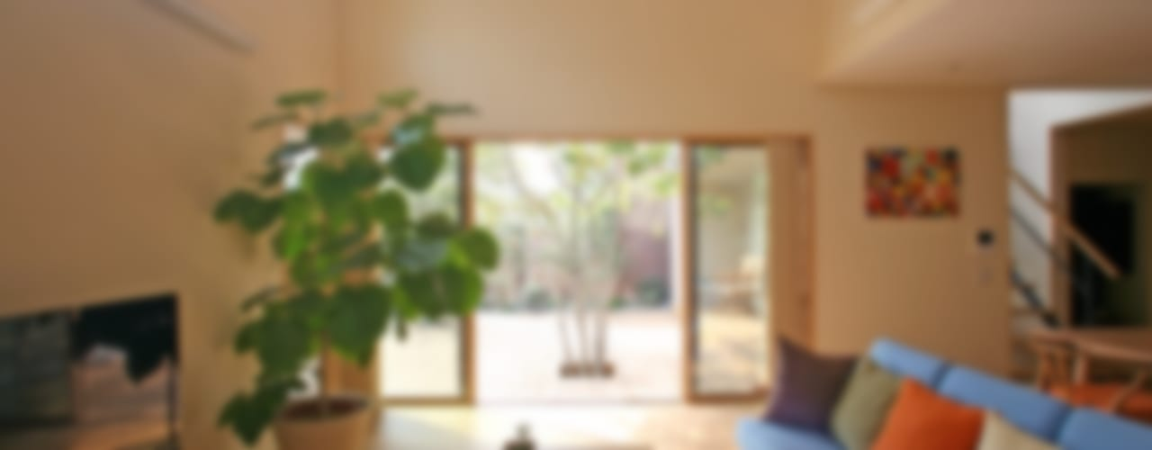 غرفة المعيشة تنفيذ 設計事務所アーキプレイス