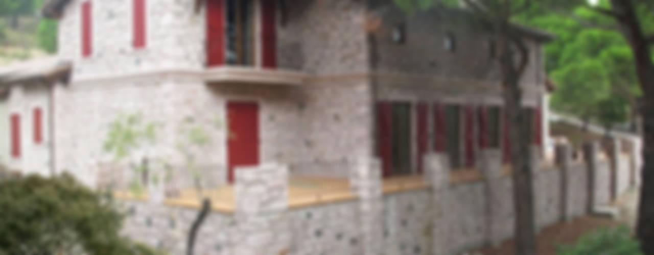 Bağyüzü Taş Ev Kırsal Balkon, Veranda & Teras Plano Mimarlık ve Teknoloji Kırsal/Country