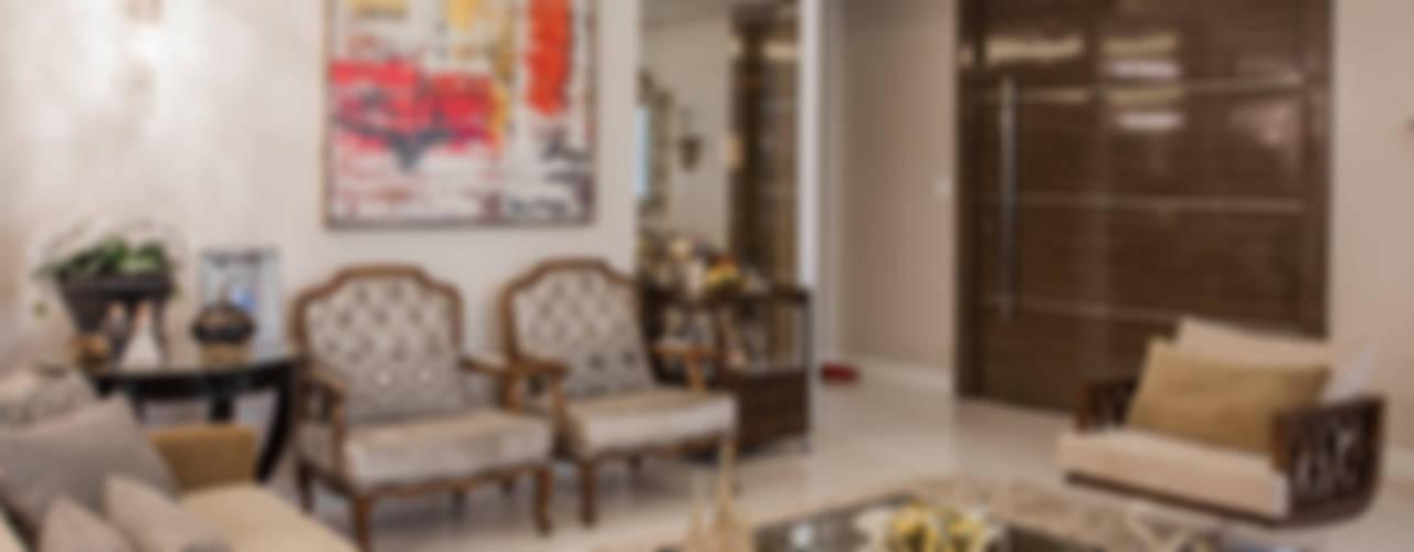غرفة المعيشة تنفيذ Heloisa Titan Arquitetura,