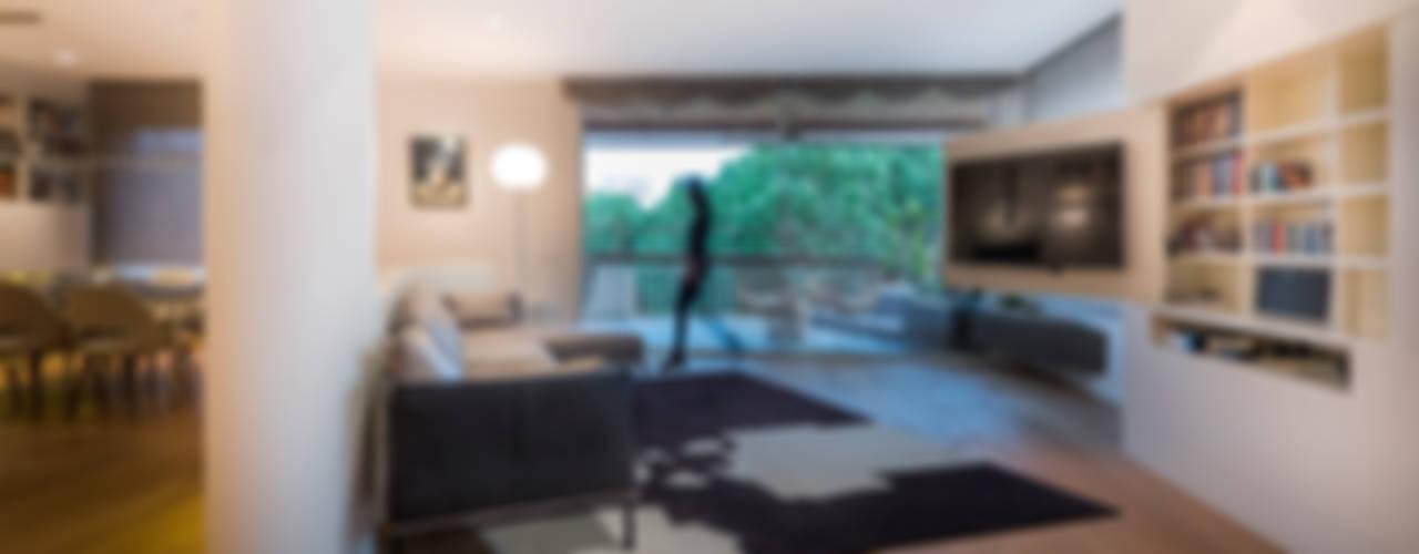REFORMA integral Salones de estilo minimalista de Daifuku Designs Minimalista