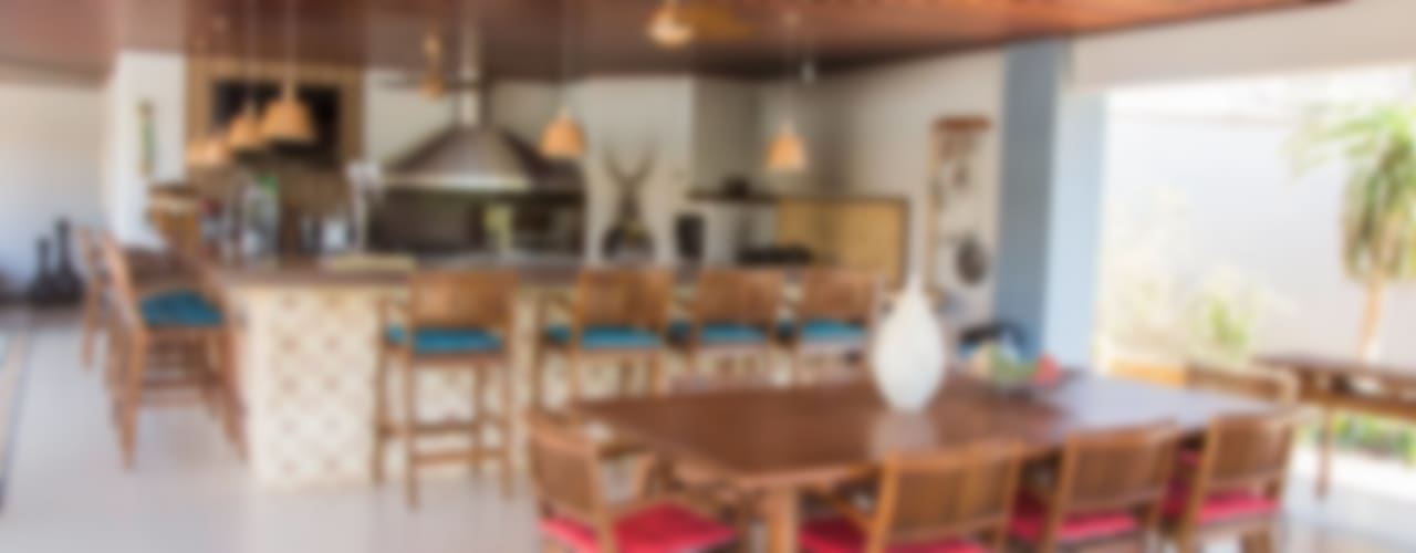 Chacara 1 Comedores de estilo moderno de Érica Pandolfo - arquitetura / interiores Moderno