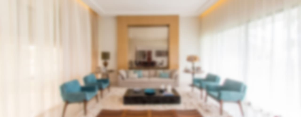 Salas de estilo  por Carolina Mota - Arquitetura, Interiores e Iluminação, Moderno