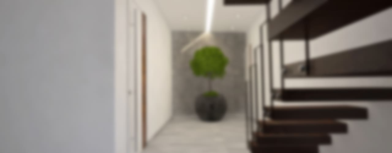 Modern corridor, hallway & stairs by Tiago Martins - 3D Modern