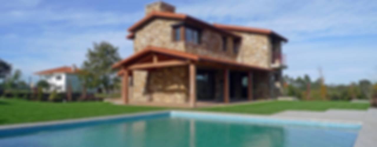 Casas de estilo  por AD+ arquitectura, Rústico