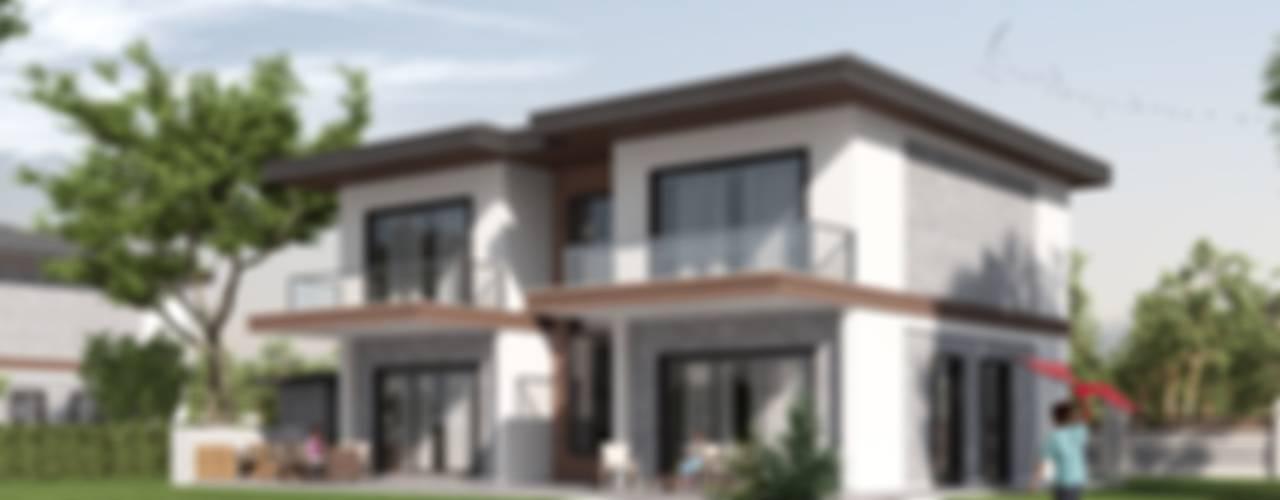 Panorama villaları F&F mimarlik Modern Evler Beton Gri