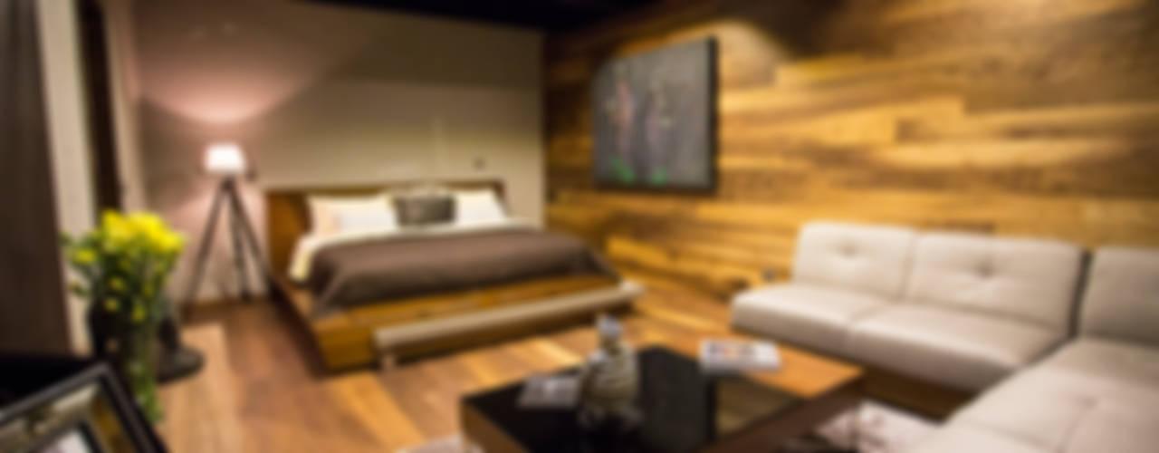Camera da letto in stile  di Con Contenedores S.A. de C.V.,