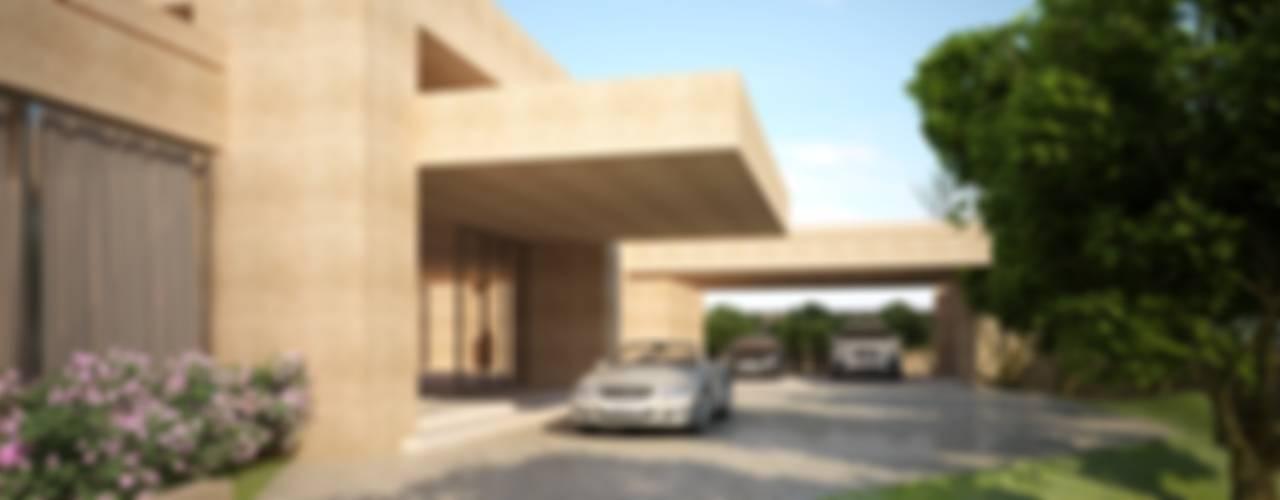 Garajes de estilo  por Lanza Arquitetos,
