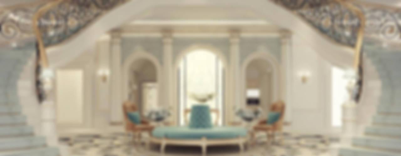 Exploring Luxurious Homes : Grand Lobby Interior Design Коридор, прихожая и лестница в классическом стиле от IONS DESIGN Классический