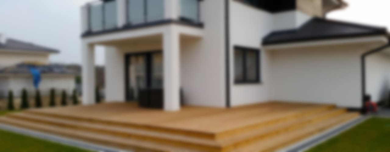 Realizacja projektu Cyprys: styl nowoczesne, w kategorii Domy zaprojektowany przez Biuro Projektów MTM Styl - domywstylu.pl