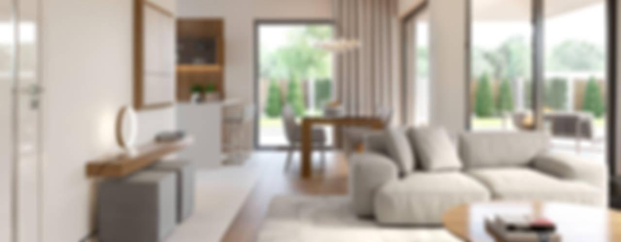 Livings de estilo  por HomeKONCEPT   Projekty Domów Nowoczesnych