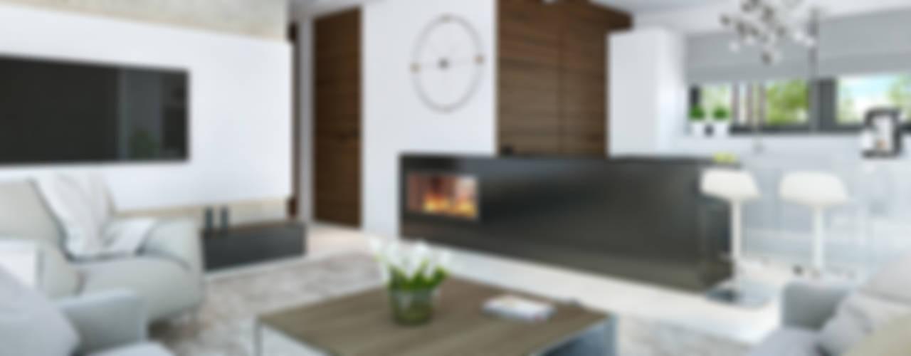客廳 by HomeKONCEPT | Projekty Domów Nowoczesnych
