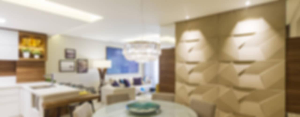 غرفة السفرة تنفيذ Juliana Agner Arquitetura e Interiores