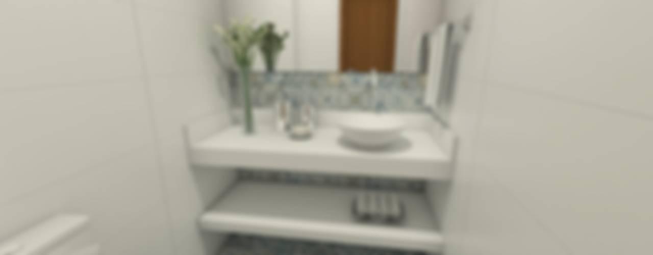 Baños de estilo  por Luana Alvarenga - Arquitetura e Interiores