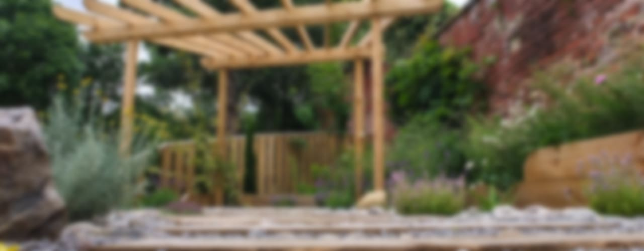 Modern Garden with a rustic twist by Yorkshire Gardens Сучасний