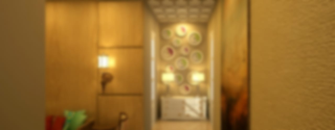 Living Room Modern corridor, hallway & stairs by Shreya Bhimani Designs Modern