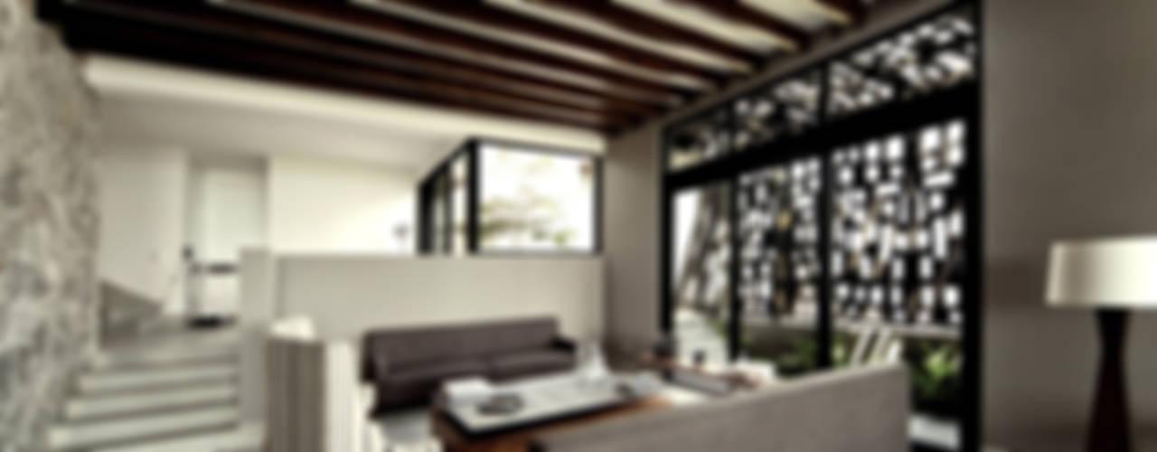 现代客厅設計點子、靈感 & 圖片 根據 VMArquitectura 現代風