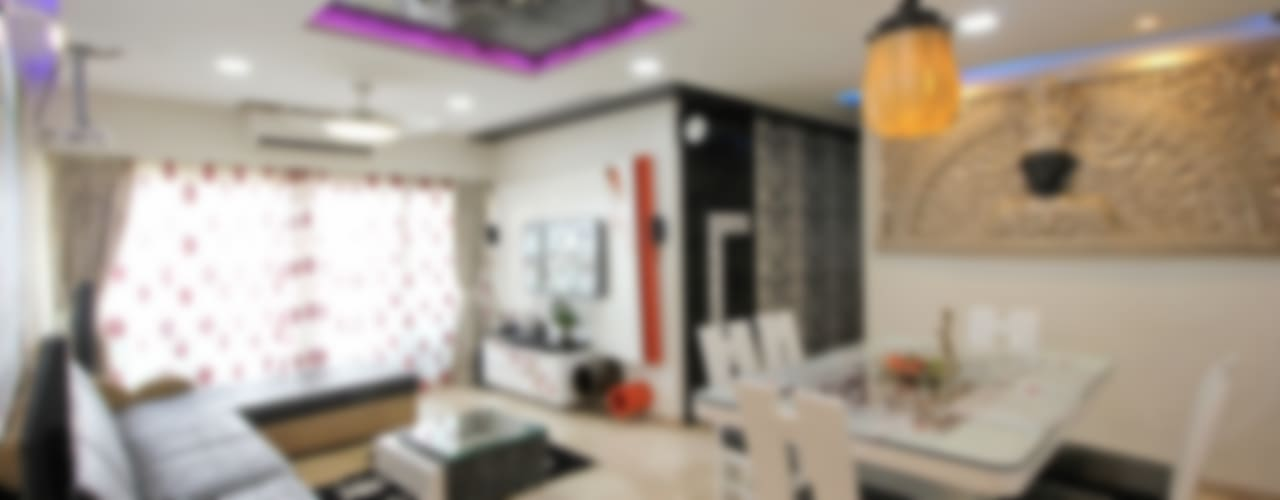 Grand Living Room: modern Living room by home makers interior designers & decorators pvt. ltd.