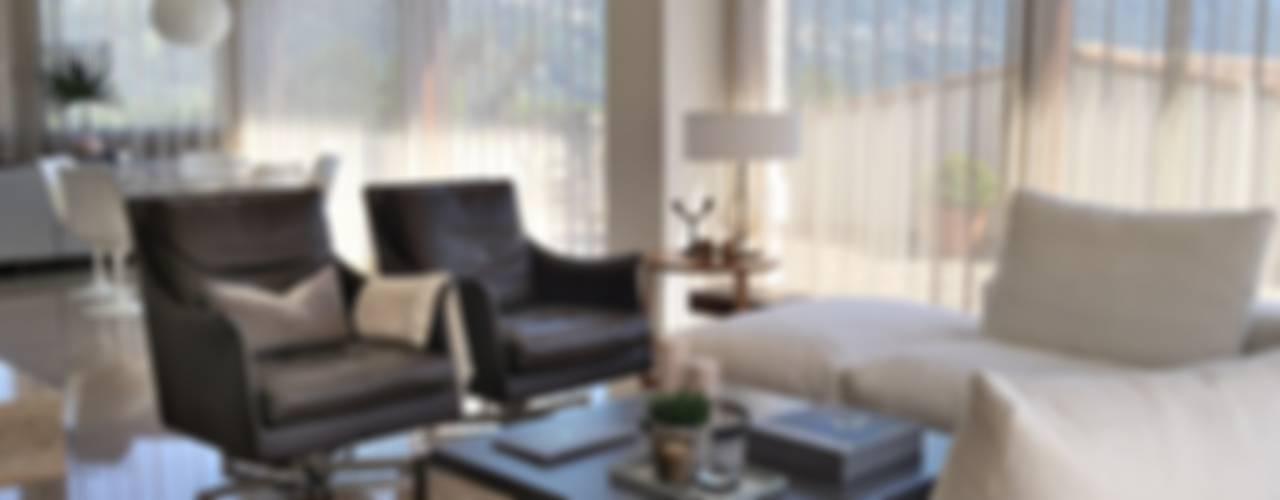 Swiss penthouse, effortless restyling Salones de estilo moderno de MD Creative Lab - Architettura & Design Moderno