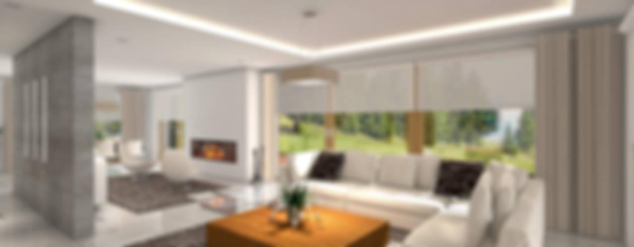 Modern Yemek Odası HomeKONCEPT | Projekty Domów Nowoczesnych Modern