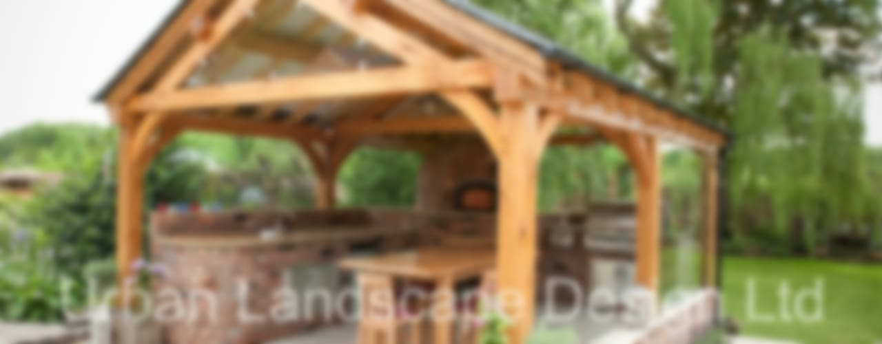 Outdoor Kitchen & Oak Building Country style garden by Urban Landscape Design Ltd Country