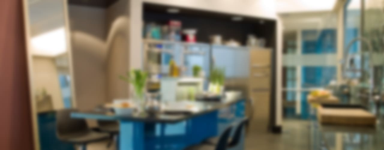 DEULONDER arquitectura domestica Kitchen Blue