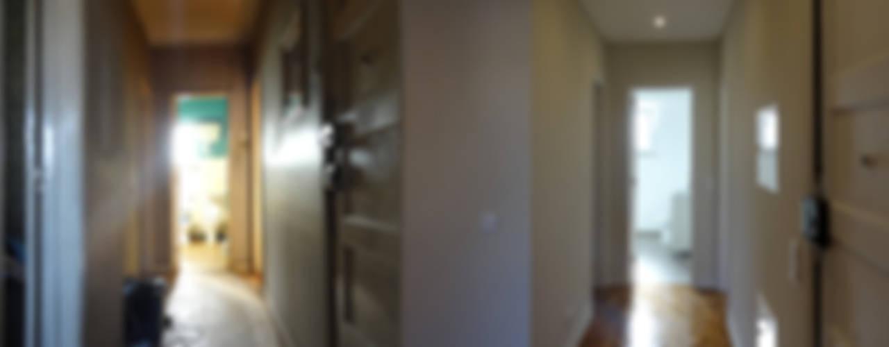 Pasillos y recibidores de estilo  por Happy Ideas At Home - Arquitetura e Remodelação de Interiores