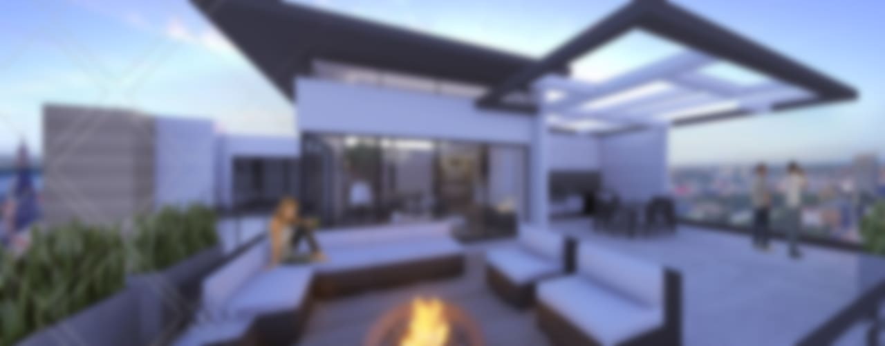 Modern balcony, veranda & terrace by CDR CONSTRUCTORA Modern
