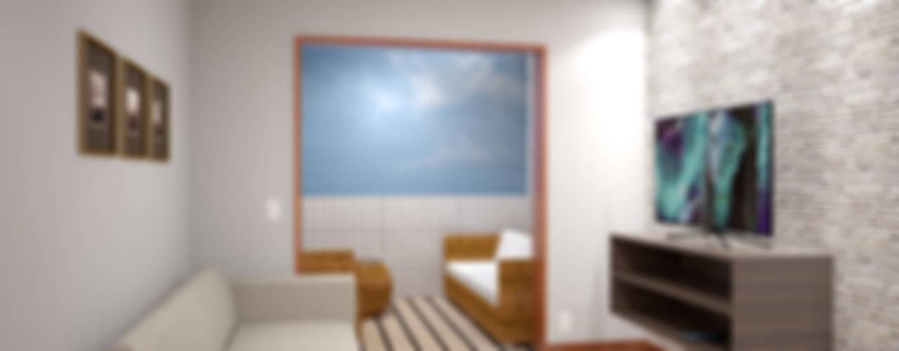Salas / recibidores de estilo  por KC ARQUITETURA urbanismo e design