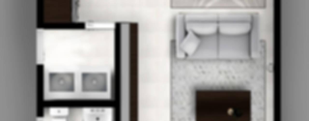 CIENTO30 Pasillos, vestíbulos y escaleras modernos de CDR CONSTRUCTORA Moderno
