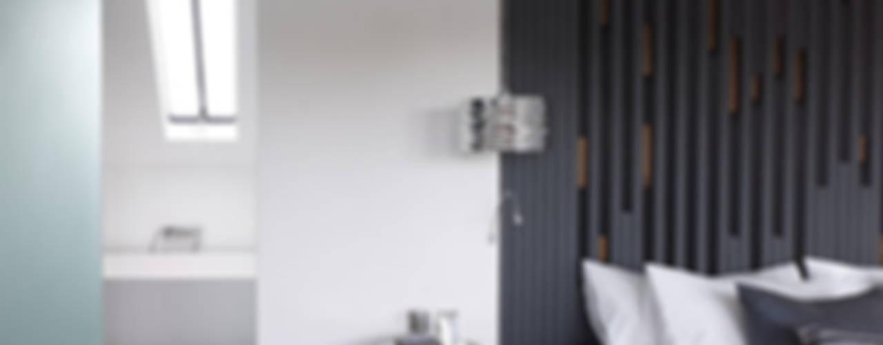 Gallery House on Richmond Park Dormitorios modernos: Ideas, imágenes y decoración de Elemental Architecture Moderno