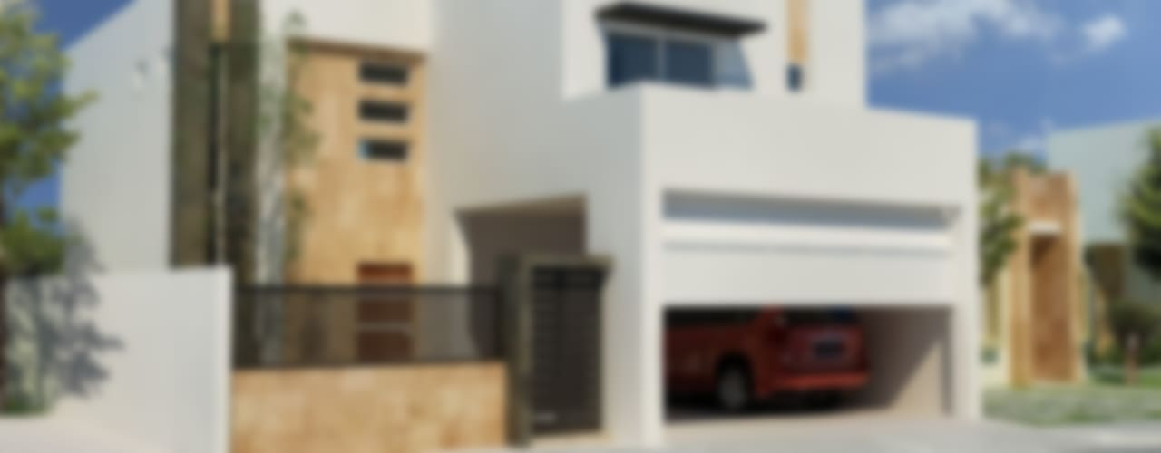 Casas minimalistas de Gestec Minimalista