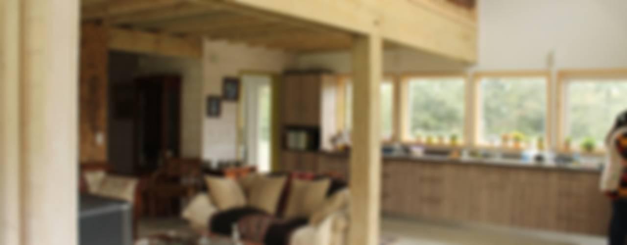 Interior casa Stehr:  de estilo  por Kanda arquitectos