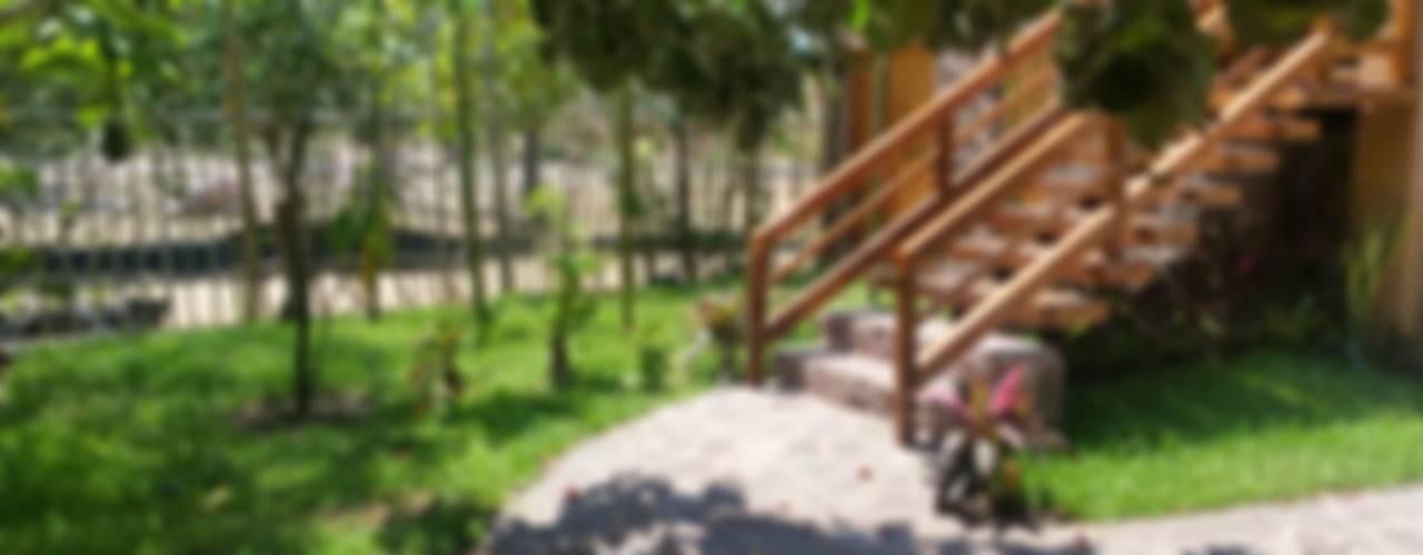 ACCESO RECÁMARA: Pasillos y recibidores de estilo  por Cervantesbueno arquitectos
