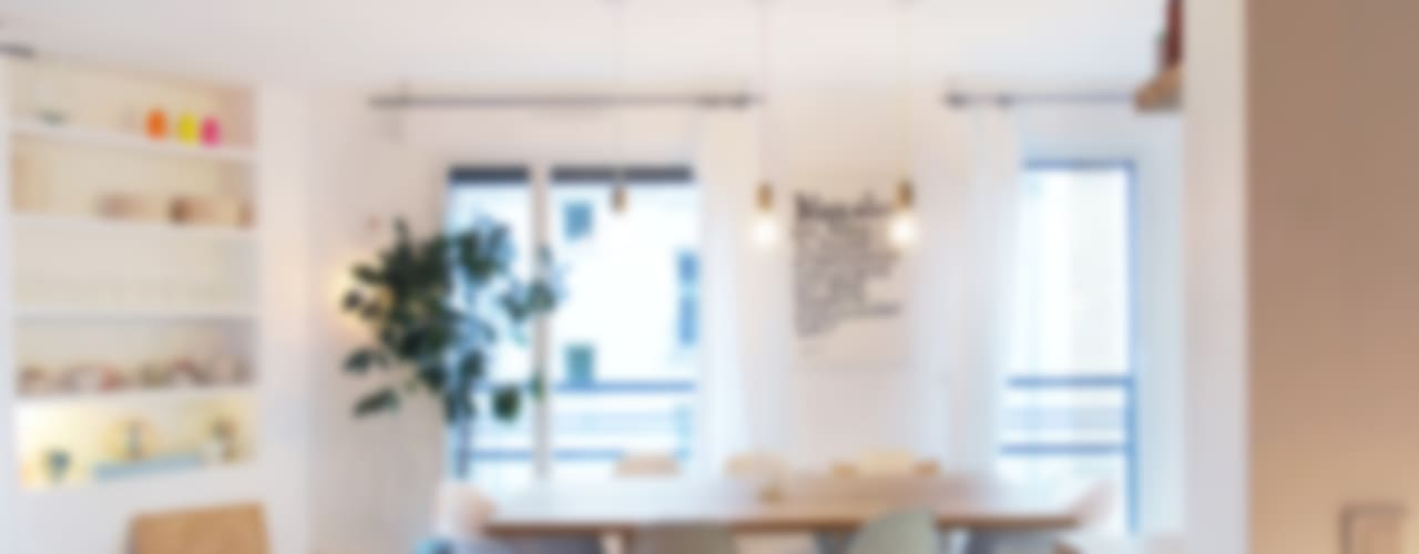 Comedores de estilo escandinavo de Belle Ville Atelier d'Architecture Escandinavo