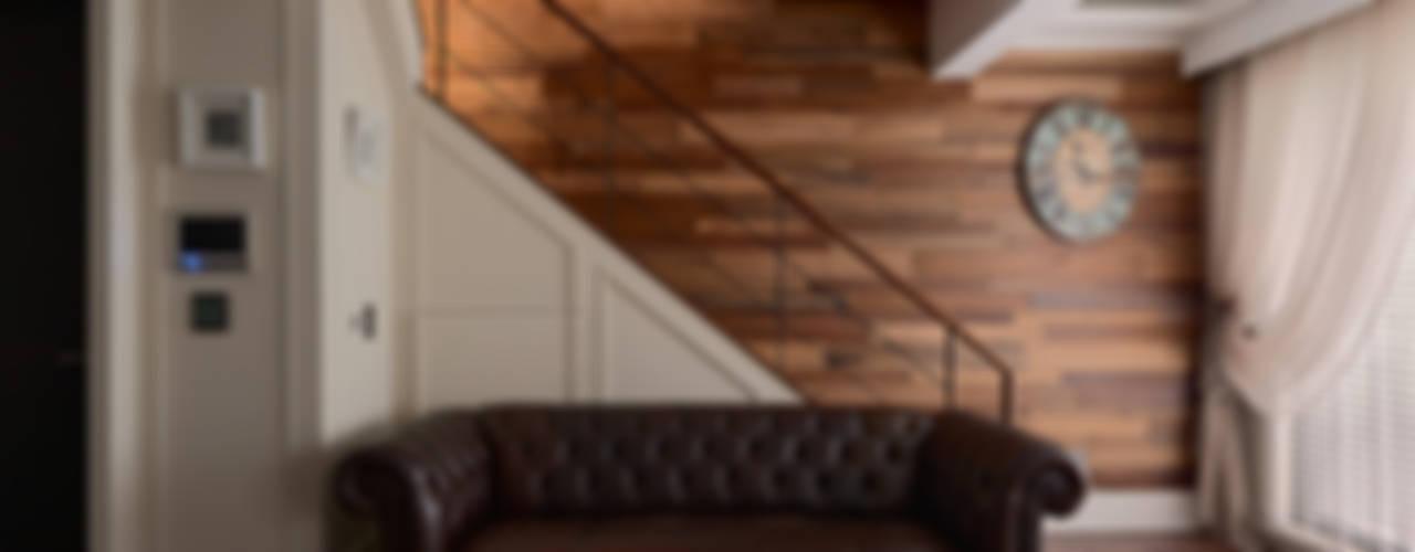 北歐摩登樓中樓輕混搭 斯堪的納維亞風格的走廊,走廊和樓梯 根據 AIRS 艾兒斯國際室內裝修有限公司 北歐風