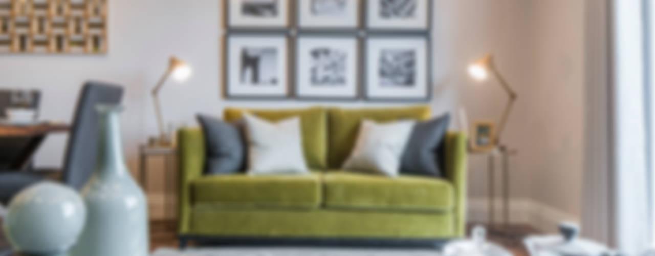 Musewll Hill, London Livings de estilo ecléctico de Jigsaw Interior Architecture Ecléctico