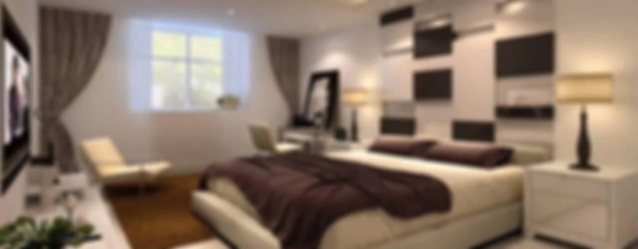 تشطيب برج البراء :  غرفة نوم تنفيذ القصر للدهانات والديكور