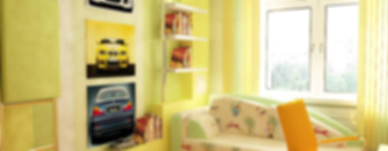 Дизайн-проект двухкомнатной квартиры 80 кв. м в современном стиле: Детские комнаты в . Автор – Студия интерьера Дениса Серова, Модерн