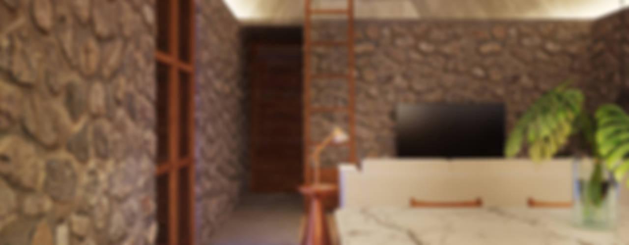 La Desarrolladora Tropical style dining room Stone Grey