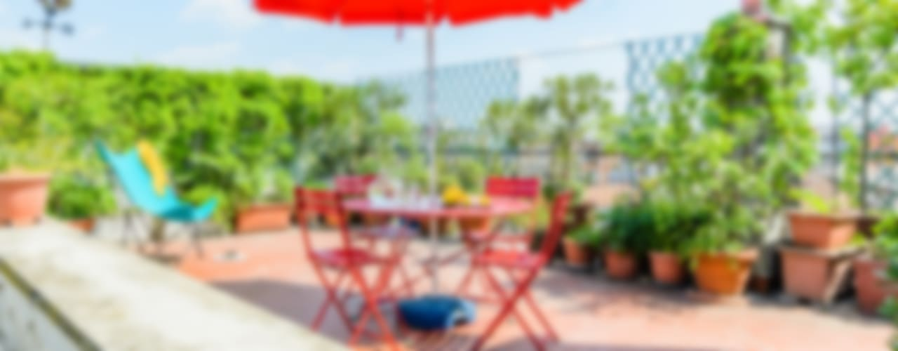 Fresh Mini Staging Venduta a Prima Vista Balcone, Veranda & Terrazza in stile mediterraneo
