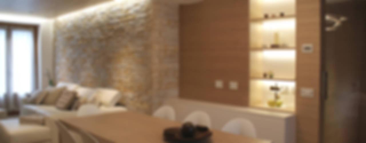 غرفة المعيشة تنفيذ GRITTI ROLLO | Stefano Gritti e Sofia Rollo, حداثي