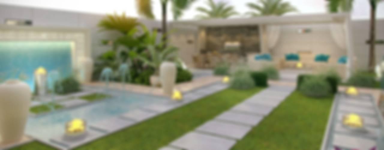 Casas de estilo mediterraneo por Luxury Antonovich Design