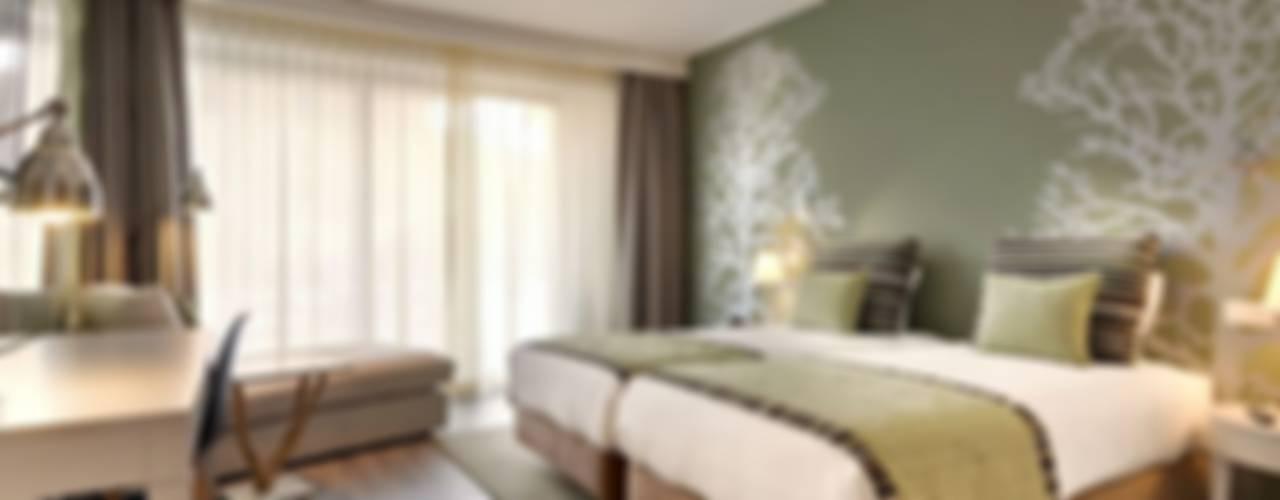 غرفة نوم تنفيذ MARIA ILHARCO DE MOURA ARQUITETURA DE INTERIORES E DECORAÇÃO