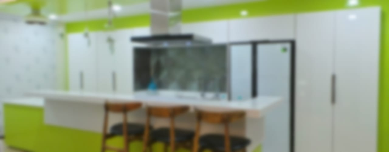 Bungalow :  Kitchen by Shadab Anwari & Associates.