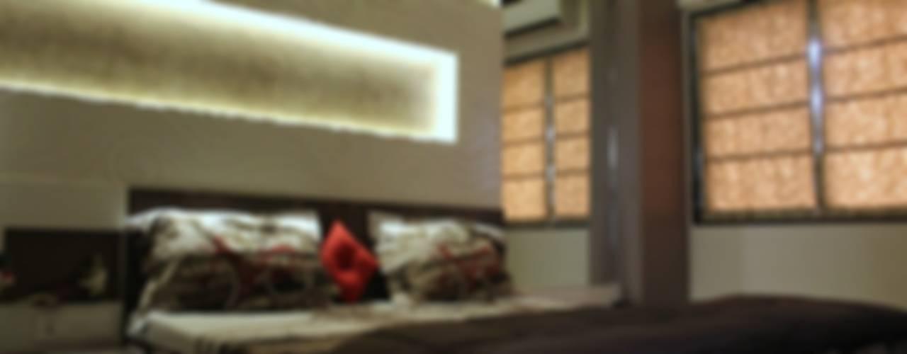3bhk I - design interior designer's Modern style bedroom Plywood Purple/Violet