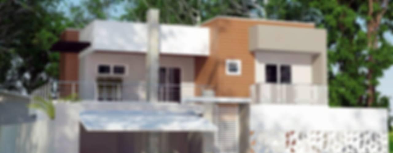 Fachada - MC: Casas modernas por Grafite - Arquitetura e Interiores