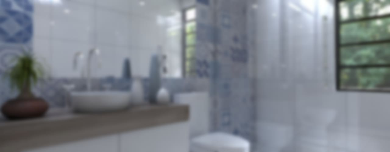 Departamento EP Arqternativa Baños modernos Ladrillos Blanco