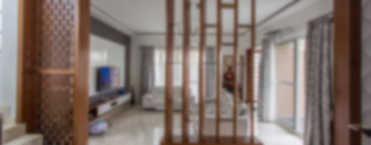 Villa Project @ Whitefield Bangalore :  Living room by In Built Concepts