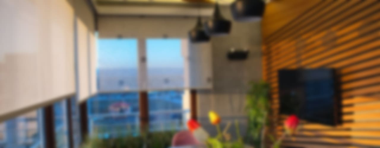 SS EVİ Modern Balkon, Veranda & Teras Ofis Mimarlık Modern