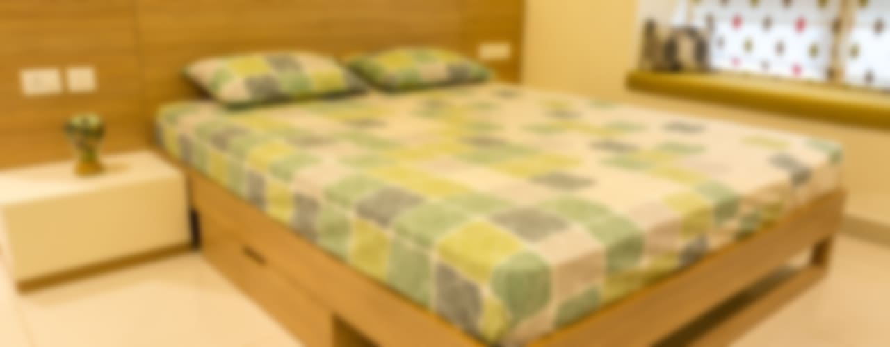 3 BHK apartment - RMZ Galleria, Bengaluru Modern style bedroom by KRIYA LIVING Modern